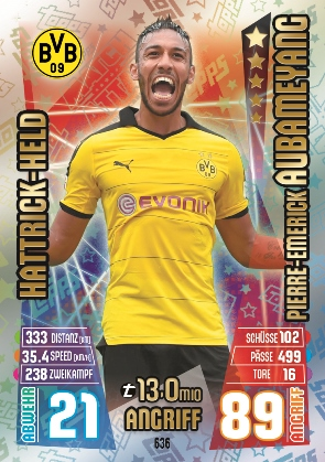 636 Borussia Dortmund Pierre-Emerick AUBAMEYANG [HAT-TRICK]