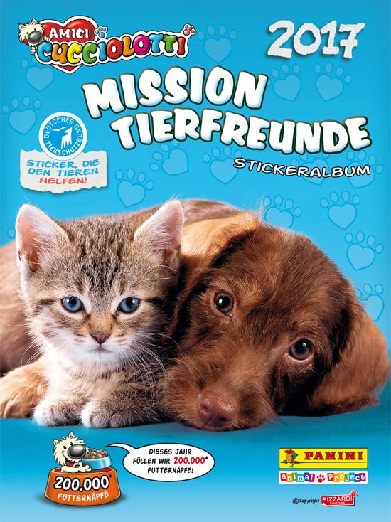 Panini 228 Amici Cucciolotti  Mission Tierfreunde Sticker Nr