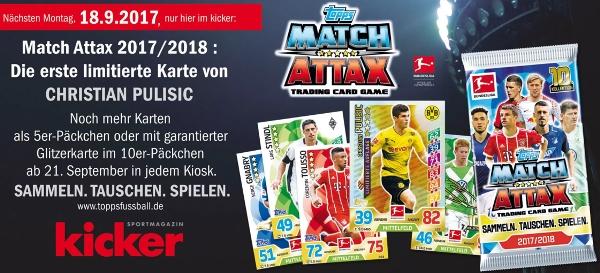 RARIT/ÄT Trading Cards Matchwinner Neven Subotic ERSTE Serie Match Attax Topps 2008//2009