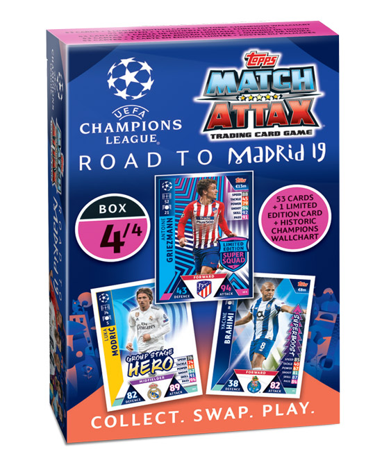 Champions League 4 Matchday Round Season 2018 2019: Match Attax UEFA Champions League